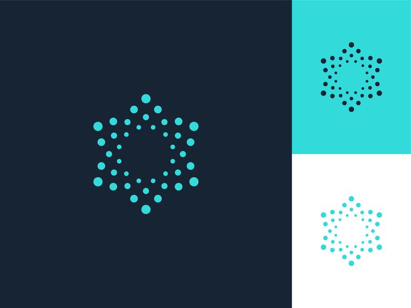 Immunity medical circle vector illustration icon design abstract geometric mark identity symbol brand logo