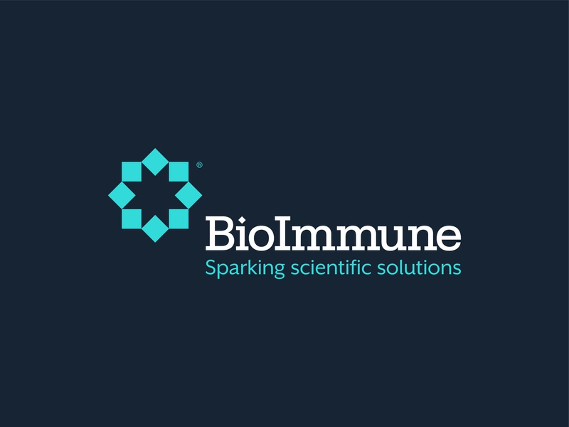 BioImmune // Logo logomark vector medical branding icon design type abstract letter typography geometric mark identity symbol brand logo
