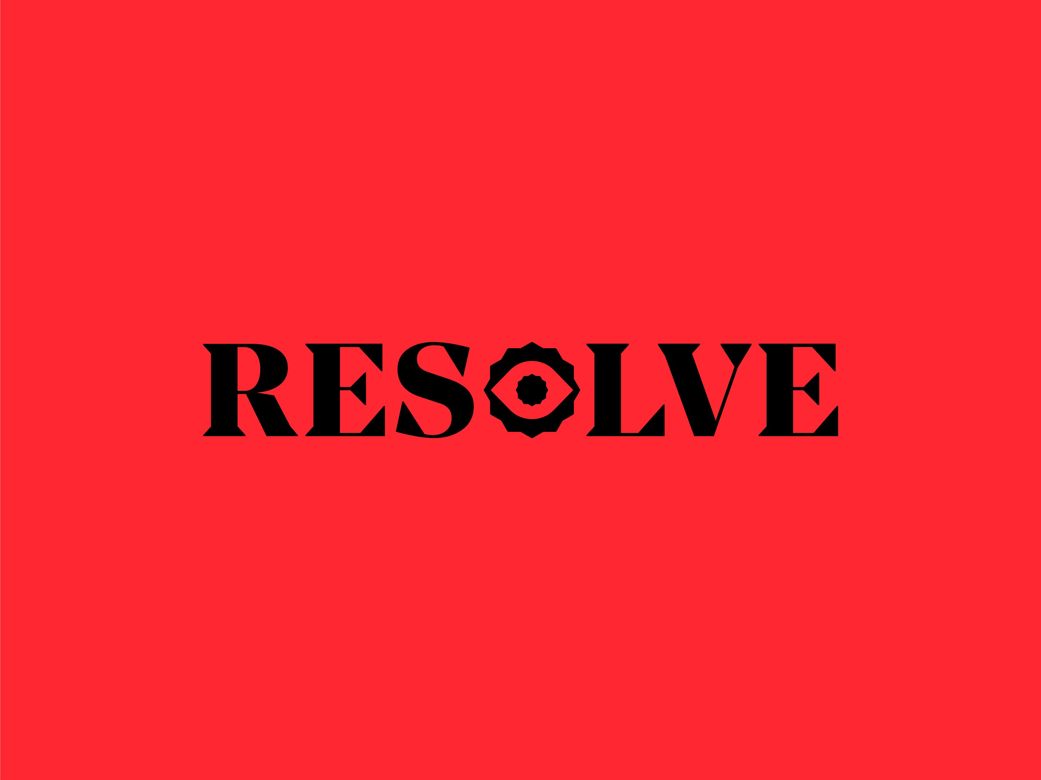 Resolve logo red