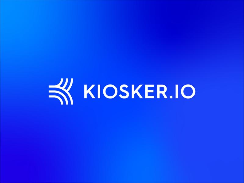 Kiosker // Logo tech software digital icon k lettering ui vector illustration branding graphic design abstract letter typography geometric identity symbol brand logo