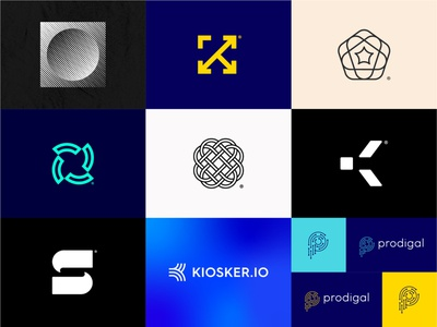 2019 Top 9 freelance inspiration trend 2019 annual review collection shots top 9 branding design letter typography mark geometric identity symbol brand logo