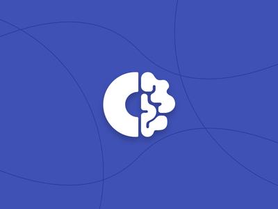 CT Logo branding identity design brand letter brain logo vector