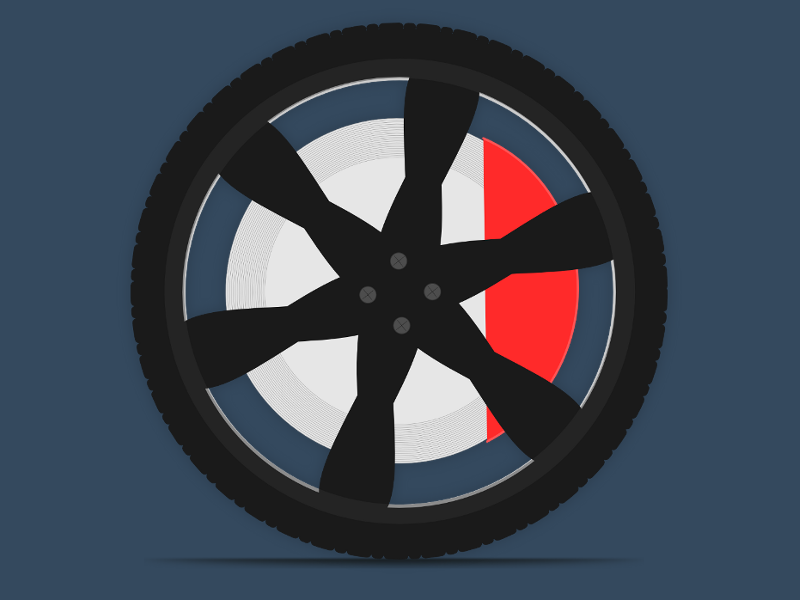 Flat Wheel flat wheel wheels tire sport vector vehicle