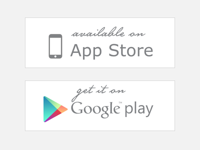 App Store & Google play  -  Free app store google play android apple ios google market buttons free freebie
