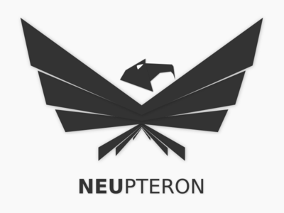 NEUpteron robotic abstract vector aviation logo eagle near east university uav innovation flat wing bird