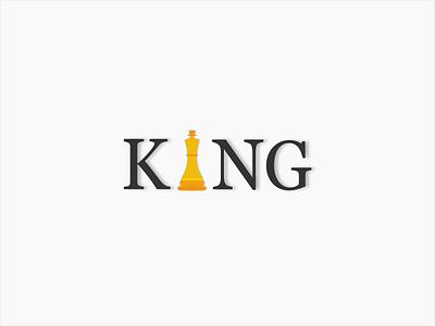 King Reklam company flat logo king reklam advertisement trademark chess king brand text vector typography