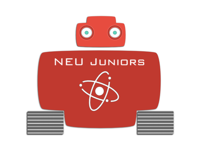 NEU Juniors robot robotic flat logo neu near east university vector