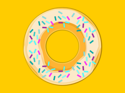 Flat Doughnut icon freebie free dessert doughnut flat svg vector