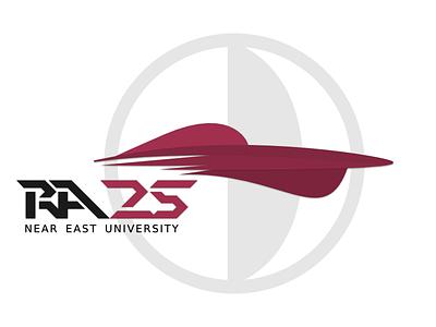 RA25 vector near east university solar energy solar car racing clean flat logo speed