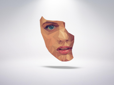 Simona polygonal low poly poly woman beauty face vector svg inkscape