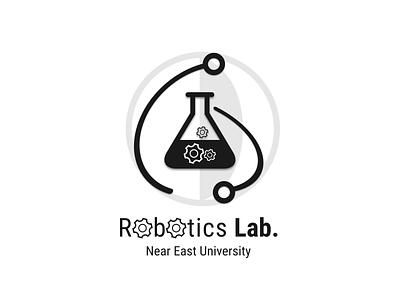 Robotics Lab. atom labaratory science vector tech hi-tech lab logo robotics