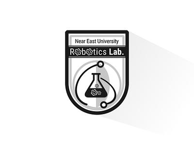 Robotics Lab. - badge hi-tech technology shadow vector logo robotics badge