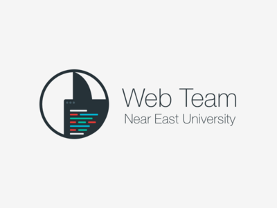 Web Team Logo near east university neu flat logo development web