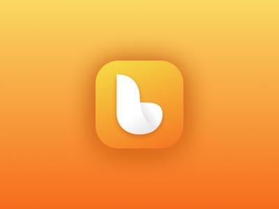 Bandabulya App orange simple mobile letter b vector android ios icon logo app