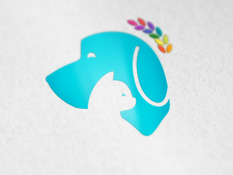 FeedMe vector animal cat dog pet feed logo