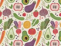 Fruit & Veggie Pattern