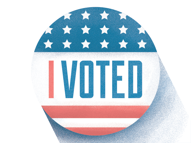 I Voted photoshop illustrator texture illustration election vote