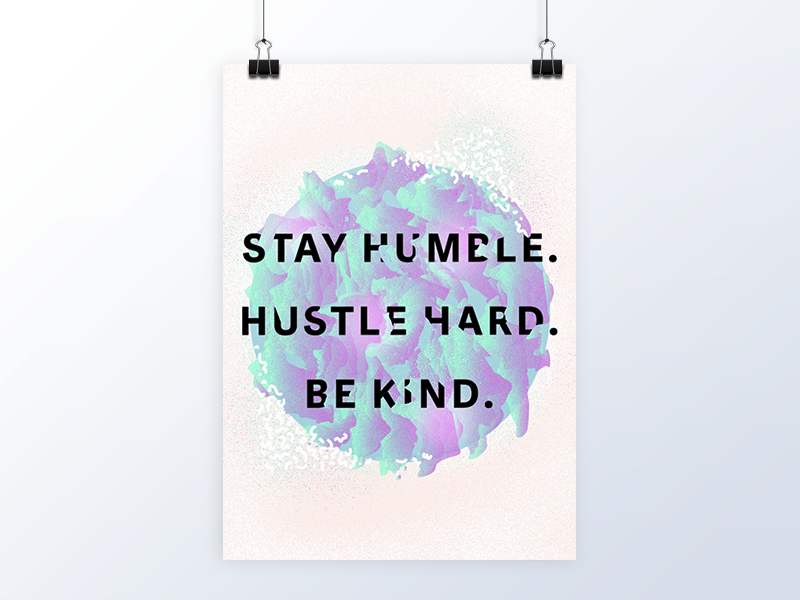Monday Mantra opulent.studio illustration abstract inspirational motivational quote poster
