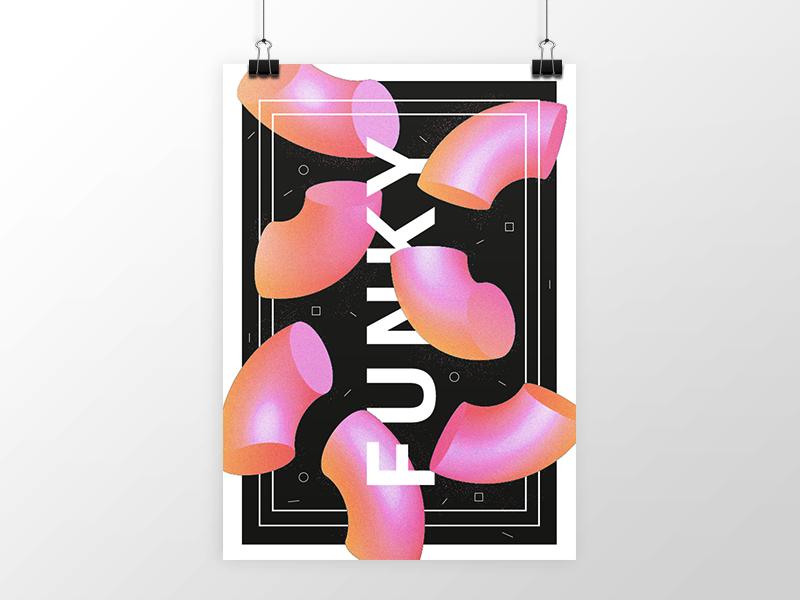 Funky Poster opulent.studio poster funky 3d shapes illustration