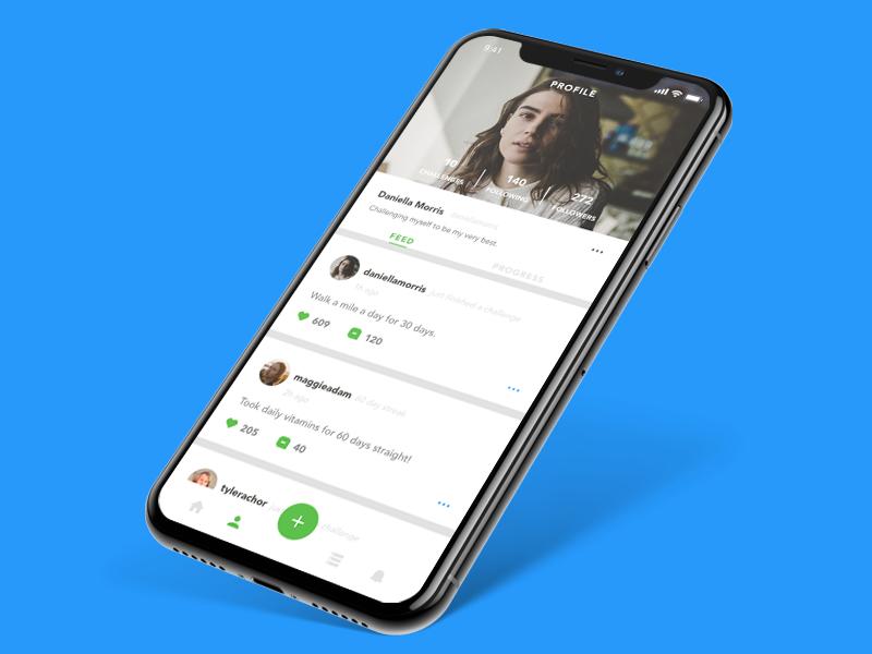 Profile - Goal App mobile design app design ios ux ui adobe xd app