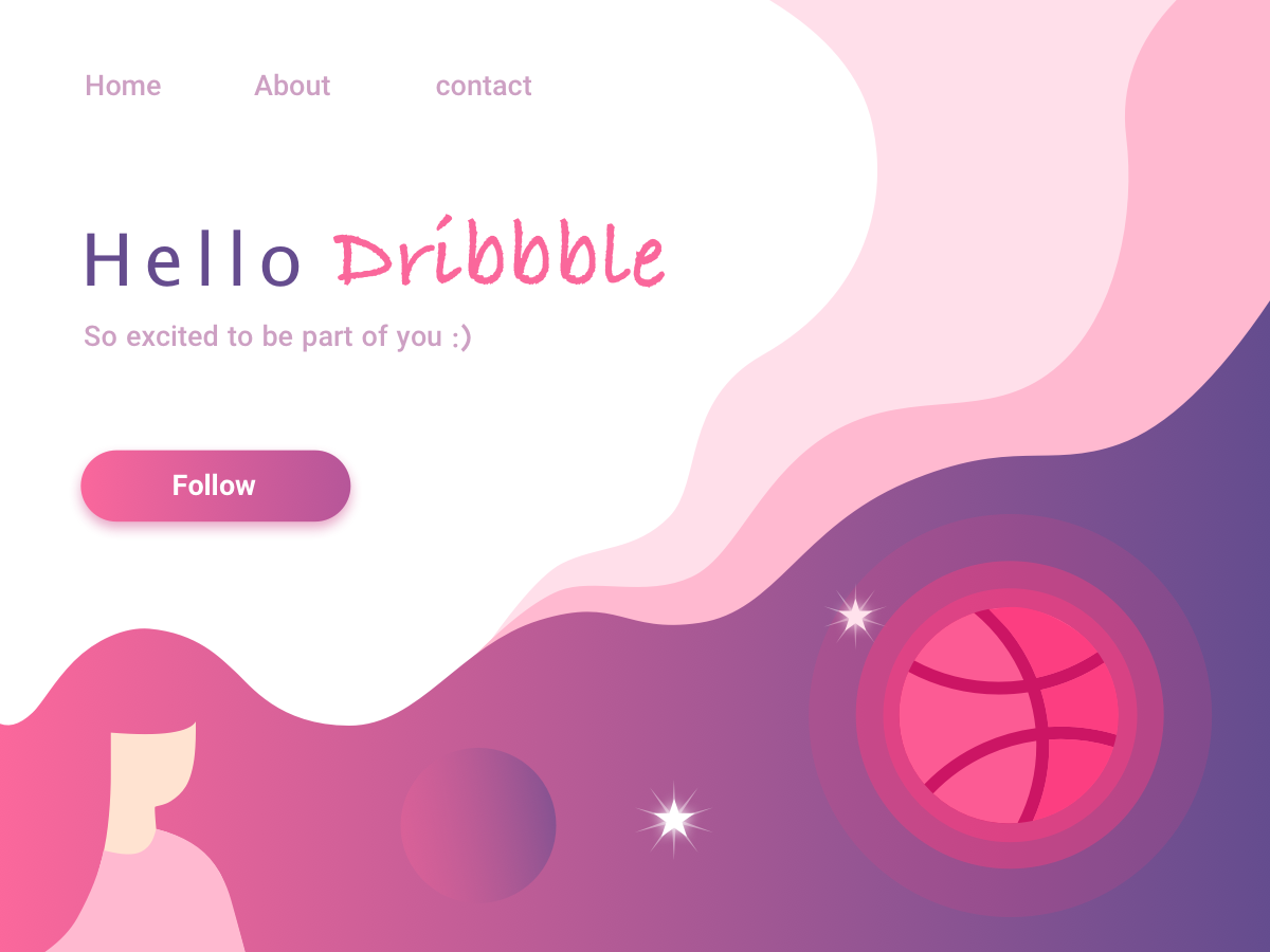 First Shot illustration illustrate flat minimal clean 2d web design follow me dribbblers dribbble ios app design android app design first shot