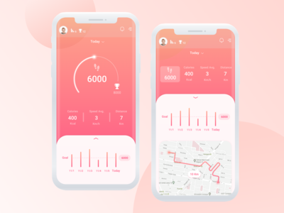 Pedometer ios app minimal clean pacer gamification coral living google fit samsung health workout app iphone x app walking step tracker running app fitness app health app step counter pedometer