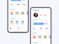 Pedometer Profile Screen