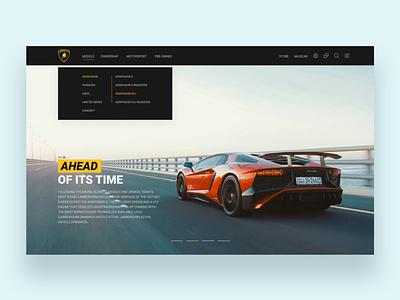Lamborghini Website Concept Design website concept landingpage car website design website lamborghini landing uiux ux ui