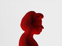 Girl Silhouette Paper Cutout