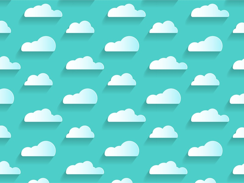 Clouds Pattern blend shadow cloud pattern paper vector adobe illustrator illustration