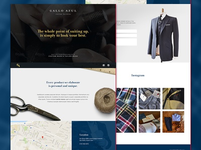 Gallo Azul - Website proposal redesign homepage wip website web design tailored suit gallo gallo azul page