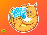 Cat Worship The Illustration (Light)