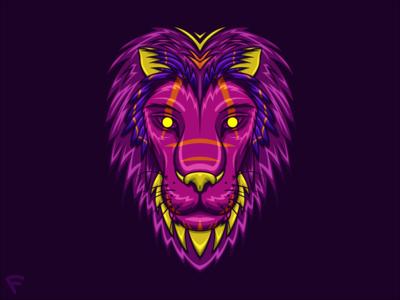 Sacred Lion The Illustration