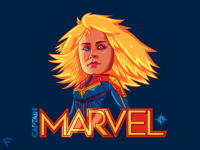 Captain Marvel Caricature Illustration