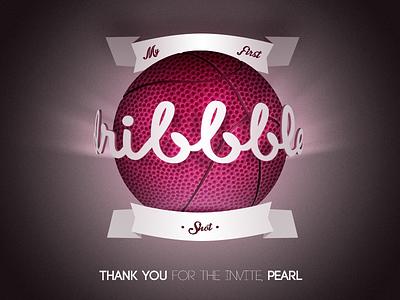 1st Dribbble Shot 1st dribbble shot first invite dribbble
