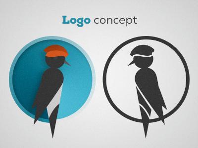 Logo concept bird logo woodpecker