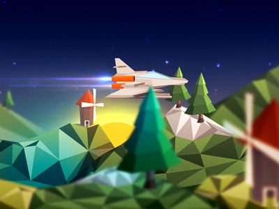 Game Conception spaceship low poly spaceship low-poly