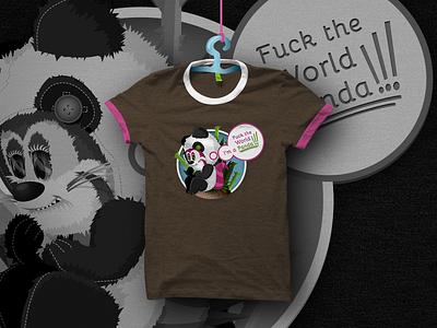 Panda habit T-shirt design panda t-shirt