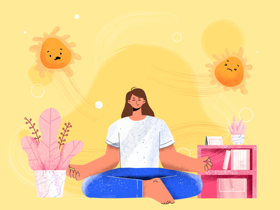 Stay healty, Good energy ☘️ meditation illustration digital coronavirus pastel happy fun healty yoga flat design flat illustration illustrations illustration design illustration art illustrator animation character vector flat minimal illustration