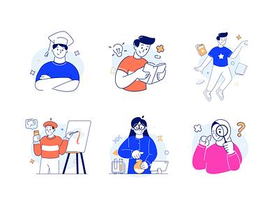 Distance Learning Illustration KIT product product designs elearning courses elearning courses learning graphic vector product design illustrator character design illustration