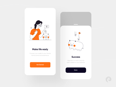Wallet App Exploration 🤑💰 character illustration wallet app wallet app product design mobile design mobile ux design ux ui design ui