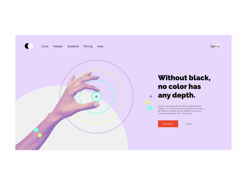 Depth of color website minimal flat web typography ui