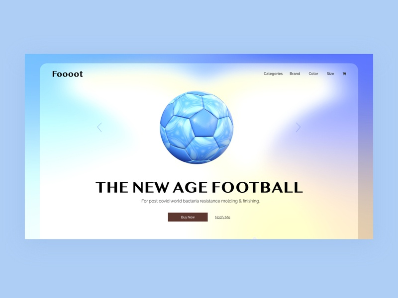 The New Age Football. graphic design minimal web design typography ux website ui flat