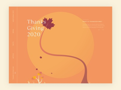 Thanks Giving vector art ux typography graphic design design website ui minimal flat
