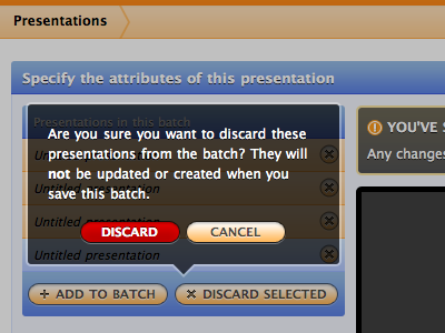 A modal prompt