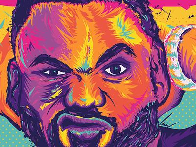 THE CHEF whistler canada chef hip hop digital illustration illustration illustrator vector portrait wutangclan wu-tang raekwon