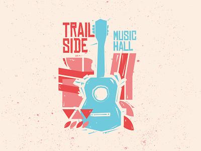 Trailside music canada show poster vector illustration illustration guitar prince edward island charlottetown