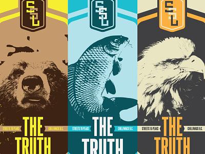 Truth Decks canada truth chilliwack board illustration deck skateboard bear fish eagle concept rejects