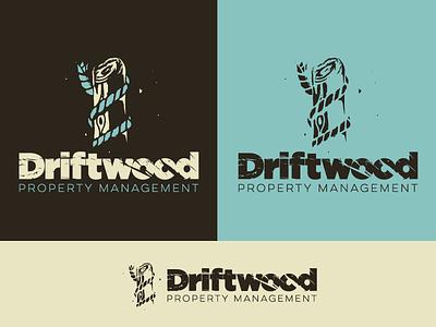 Driftwood draft texture wood ocean east coat text type driftwood water concept logo