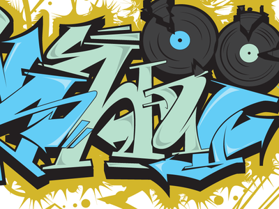 Kaneshii arrows illustrator east coast vector urban music records vinyl graffiti